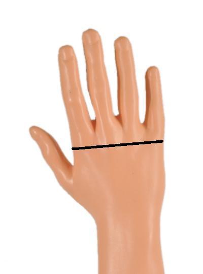 dłoń męska